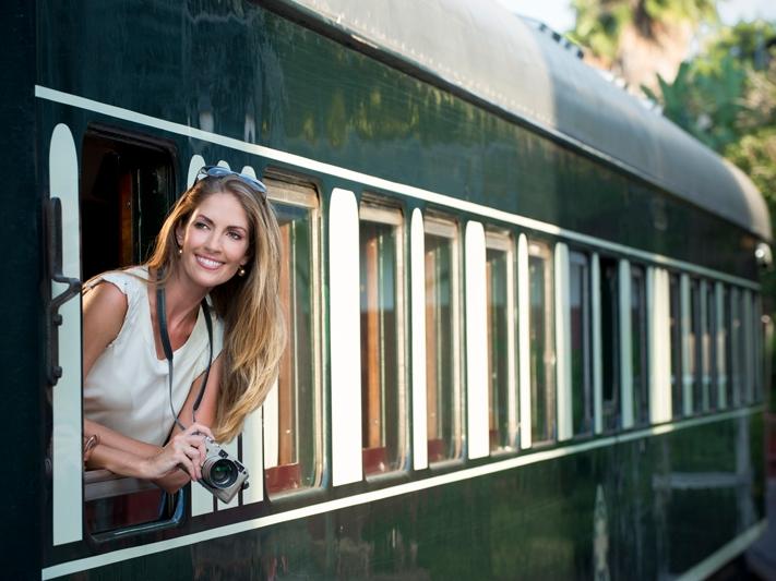 Einzartige Reise mit dem Rovos Rail