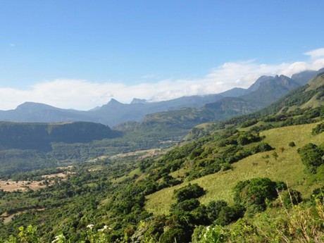 Aussicht über die Berglandschaft