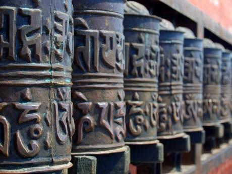 Gebetsmühlen in Kathmandu