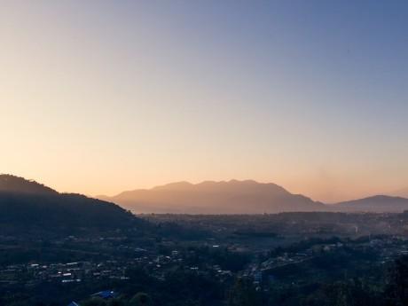 Sonnenaufgang über Kathmandu