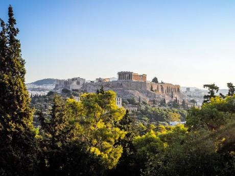 Blick auf die Akropolis, Athen
