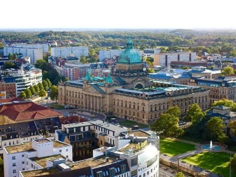 Panorama von Leipzig
